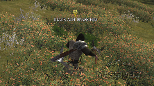 Lord of the Rings Online - Gathering black ash