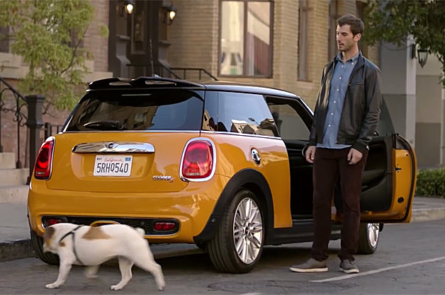 Mini's latest commercial features the 2014 Cooper and Spike, a bull dog that approves of the car.