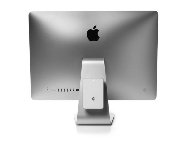 「mBack」是一顆可整合安裝在 iMac 背上的 2.5 吋硬碟