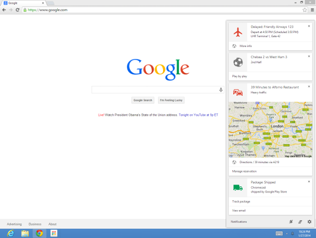 Google Now comes to the desktop in Chrome and Chrome OS betas