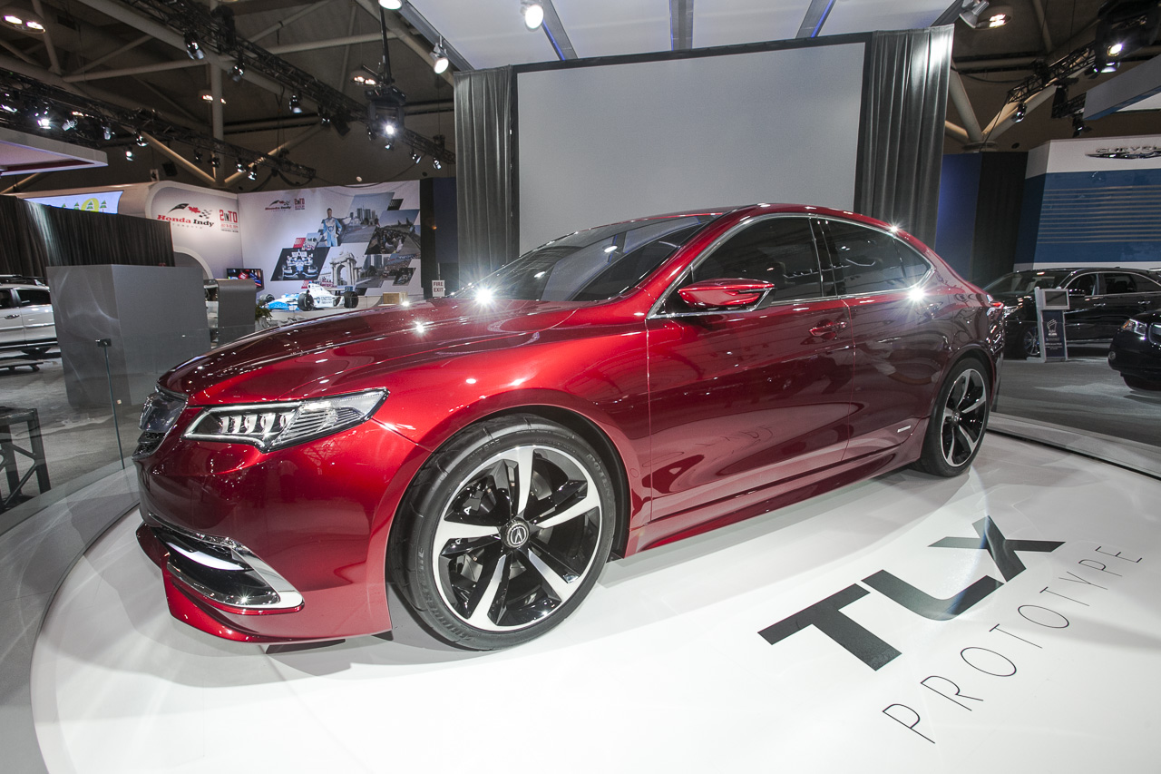 While this red hot 2014 toronto auto show debut may show signs of acura tl and tsx styling in its dna the acura tlx prototype is actually a near