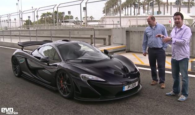 Screencap from an aero tour of the McLaren P1