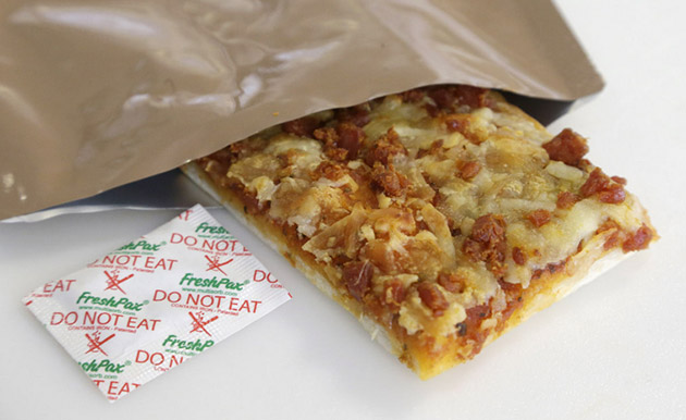 This three-year-old pizza won't kill you