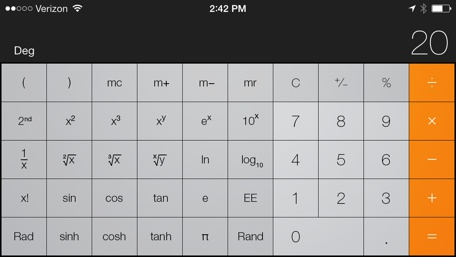 Calculating The Difference A Look At Calculator Accuracy In Ios Engadget