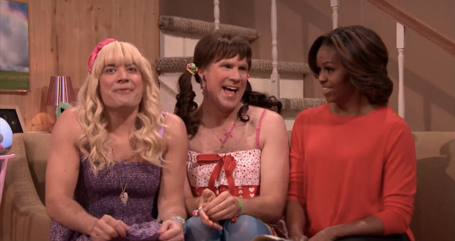 jimmy fallon will ferrell michelle obama