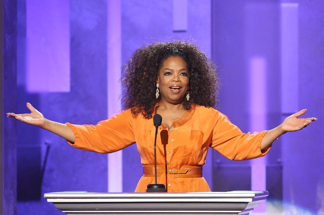PASADENA, CA - FEBRUARY 22:  Oprah Winfrey speaks onstage during the 45th NAACP Image Awards held at Pasadena Civic Auditorium on February 22, 2014 in Pasadena, California.  (Photo by Michael Tran/FilmMagic)