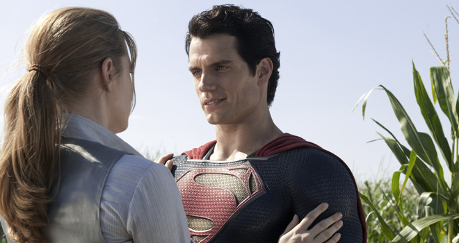 Amy Adams and Henry Cavill in 'Man of Steel'