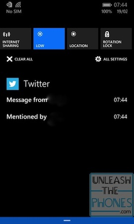El nuevo centro de notificaciones de Windows Phone 8.1 en funcionamiento (video)