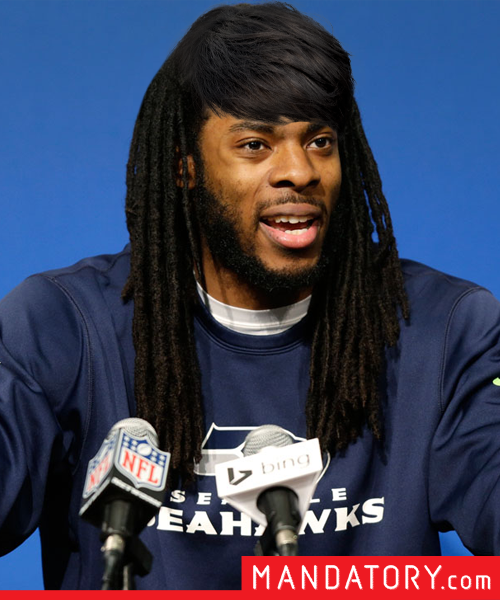 super bowl players with pixie hair cuts,  richard sherman