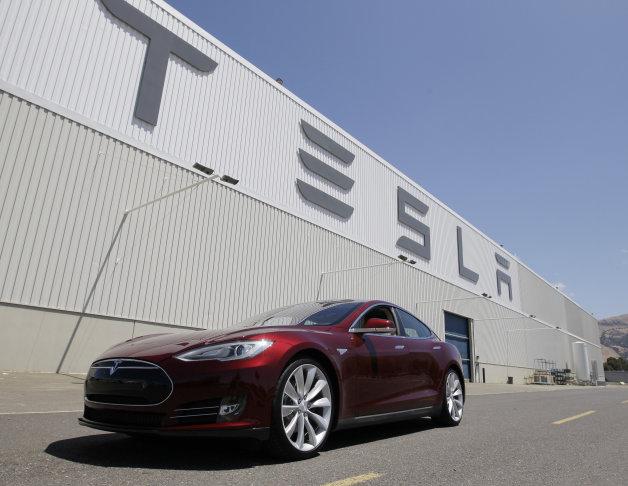 Tesla Motors Fremont factory with Model S