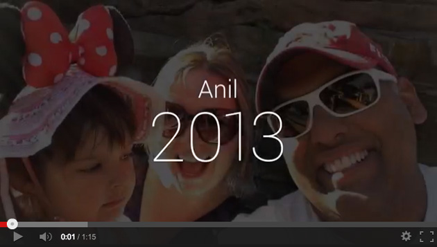 Google+ is automatically creating your own year in review video