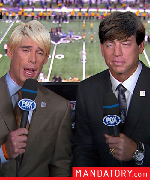 Super Bowl players with pixie hair cuts, troy aikman joe buck