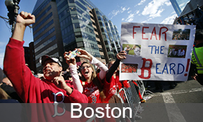 Boston fans celebrate world series win