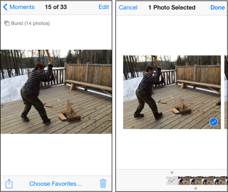Burst Mode iOS 7