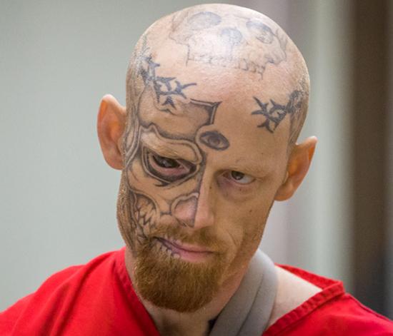 worst face tattoos creepy eye skull