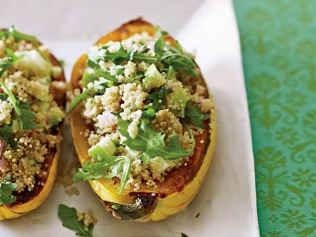 Roasted Delicata Squash with Quinoa Salad