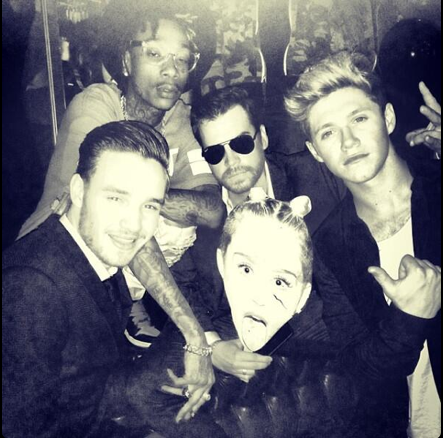 Liam Payne and Niall Horan at Miley Cyrus party
