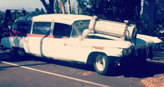 The Ghostbusters Car Is Pretty Much A Piece Of Junk Now