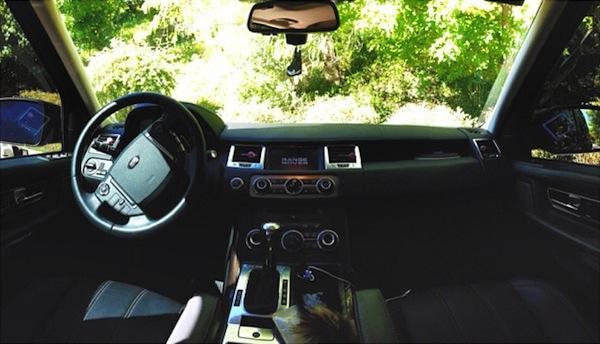 Inside Kendall Jenner Range Rover car freshener