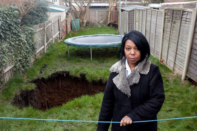 Sinkhole in Barnehurst, UK