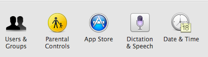 OS X App Store System Preferences