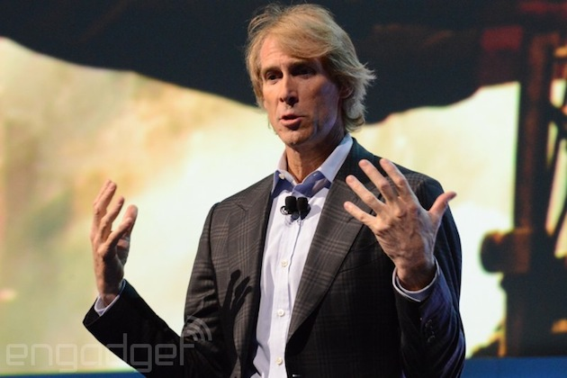 Michael Bay makes a brief, awkward appearance at Samsung's CES press conference (update: Bay follows up)
