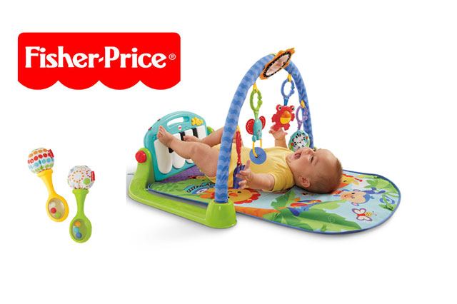 WIN a Fisher-Price Kick & Play Piano Gym and Shake n Rattle Maracas