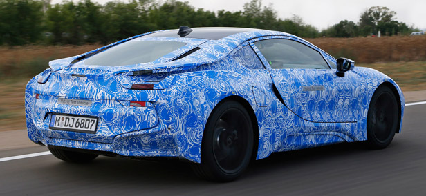 2014 BMW i8 Prototype driving