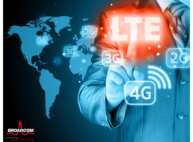 Broadcom's flashy LTE graphic that doesn't show the product