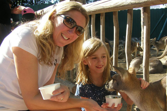 Tracey and Lola at Busch Gardens Orlando Florida