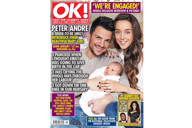 Peter Andre and girlfriend Emily show off new daughter