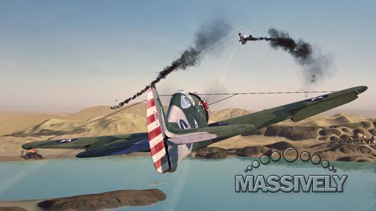 World of Warplanes dogfight