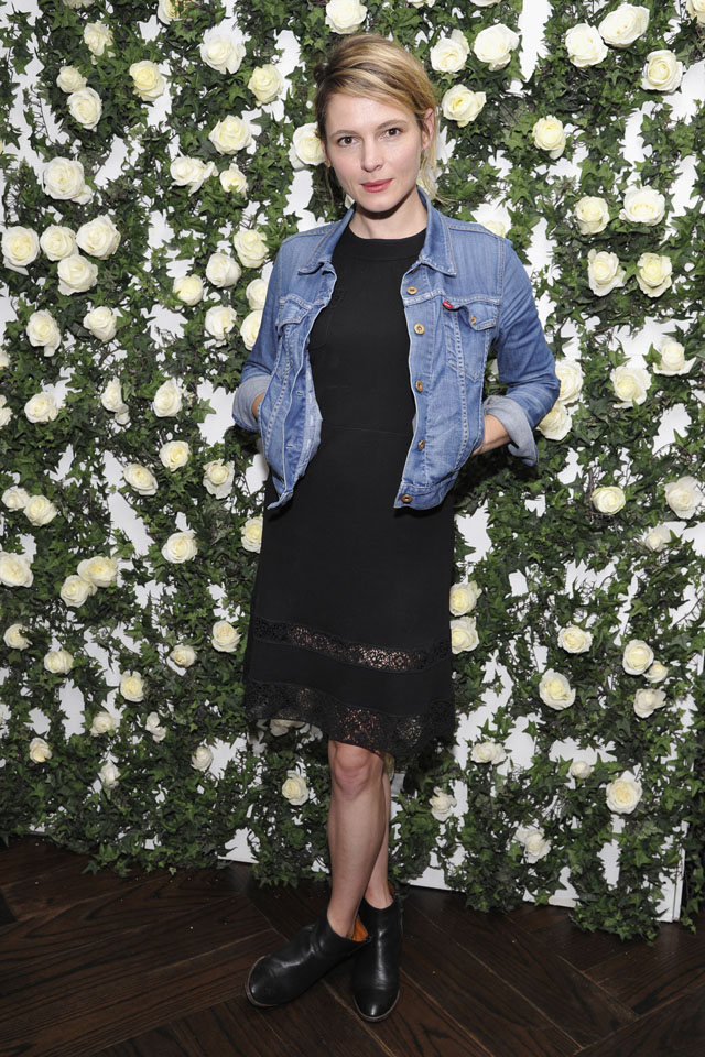LOS ANGELES, CA - JANUARY 11:  Actress Amy Seimetz arrives at Lynn Hirschberg celebrates W's It Girls with Lancome and Dom Perignon at  A.O.C. on January 11, 2014 in Los Angeles, California.  (Photo by John Sciulli/Getty Images for W Magazine)