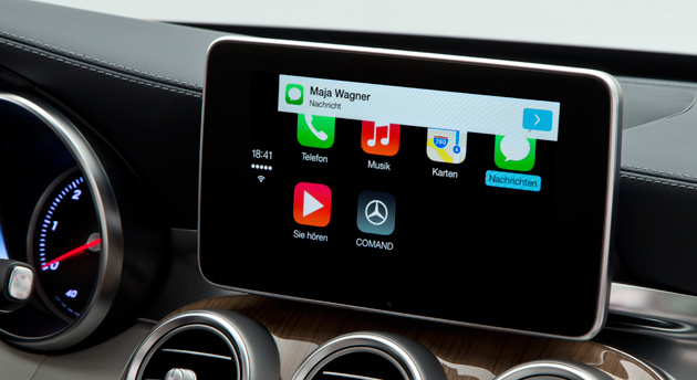 CarPlay in a Mercedes-Benz