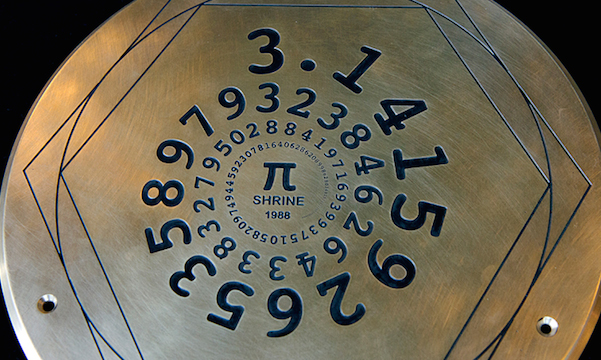 Pi Day is March 14, 3/14.