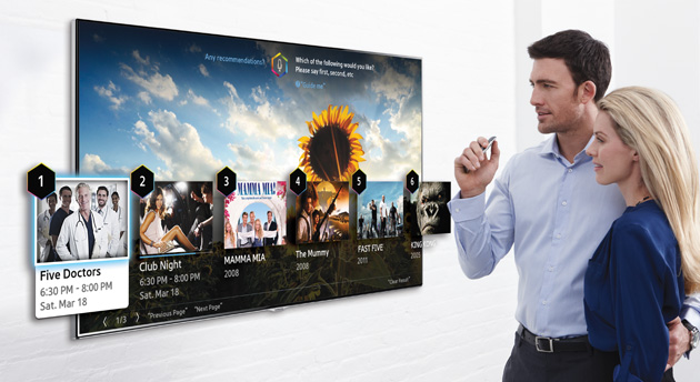 Samsung 2014 Smart TV interface