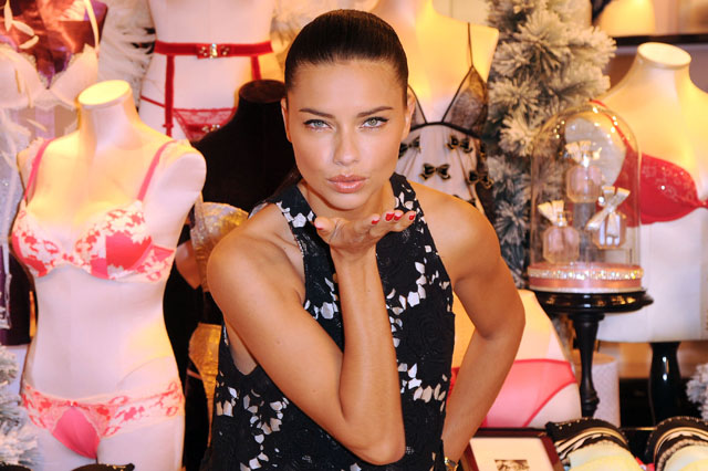 LONDON, ENGLAND - DECEMBER 12:  Victoria's Secret Angel Adriana Lima attends photocall to celebrate Victoria's Secret UK at their New Bond Street Store on December 12, 2013 in London, England.  (Photo by Eamonn McCormack/WireImage)
