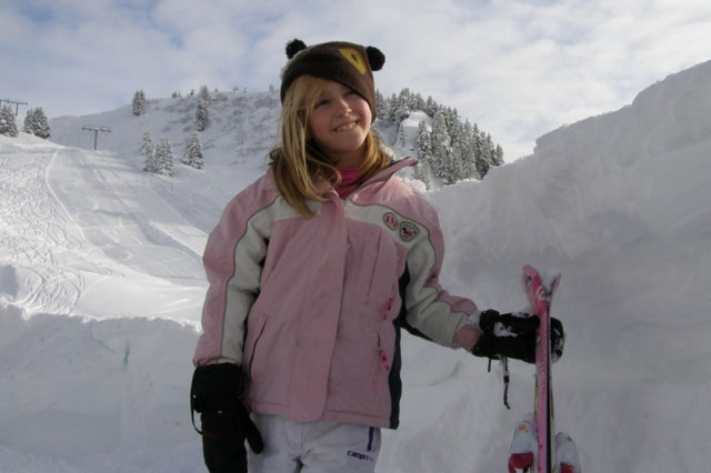 Skiing for disabled children