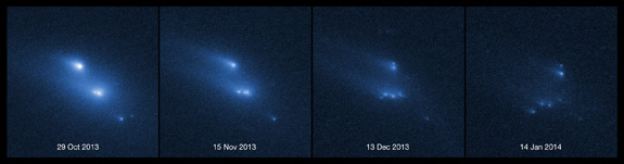 Asteroid Breaks up