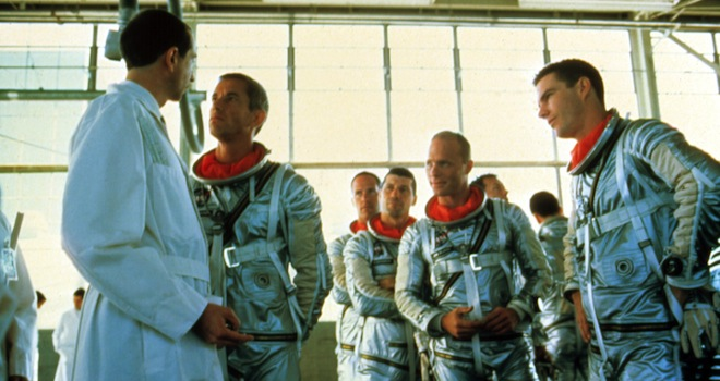 THE RIGHT STUFF, Fred Ward, Ed Harris, Dennis Quaid, 1983. (c) Warner Bros./ Courtesy: Everett Collection.