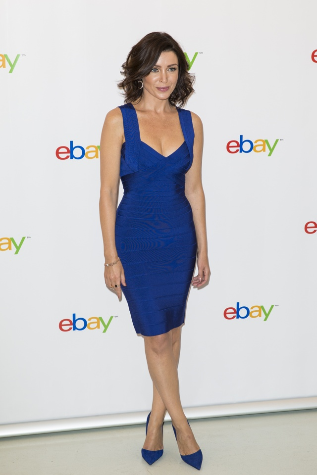 dannii-minogue-blue-bodycon-dress-ebay-collections-launch