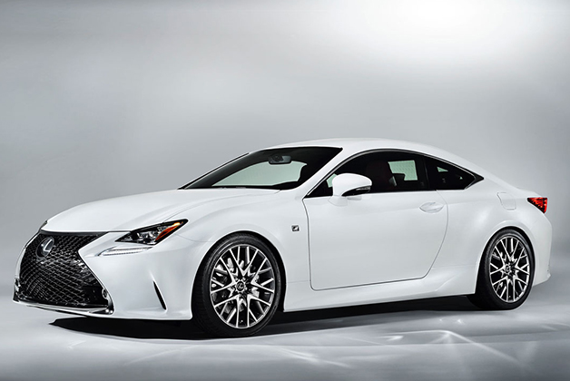 2015 Lexus RC 350 F Sport, front three-quarter view