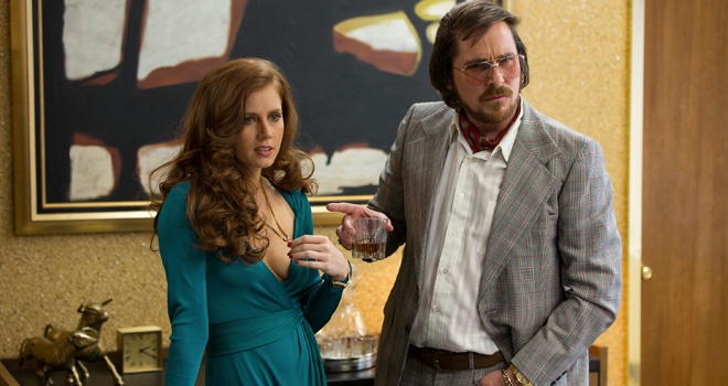Amy Adams and Christian Bale in 'American Hustle'