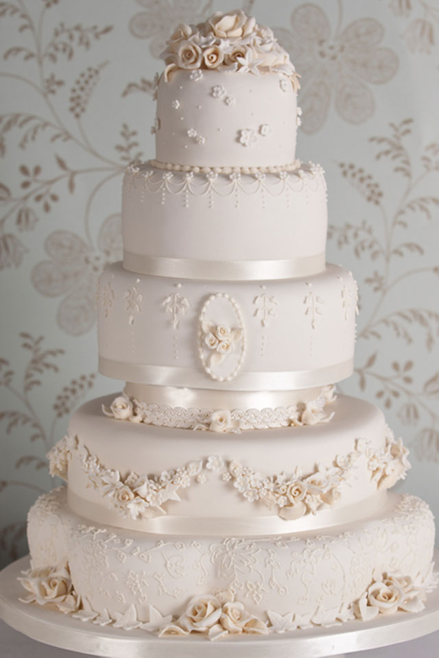 Wedding Cake Designs Vintage : Vintage Wedding Cakes: How To Make Yours Authentic