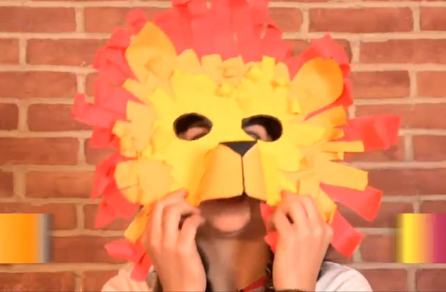 making a lion mask, craft
