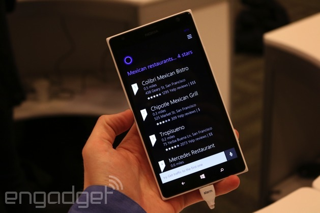 Having a chat with Cortana, Windows Phone's new personal assistant