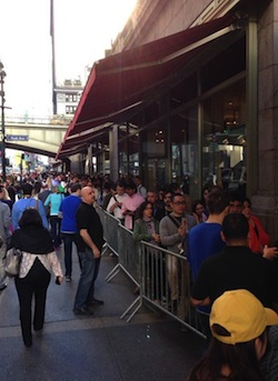 iPhone line at Grand Central