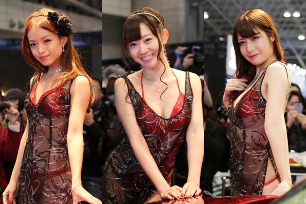 【東京オートサロン2014】コンパニオン・フォト特集第8弾は、セクシーな衣装が大人気のAIWA!