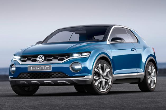 Volkswagen T-Roc concept - front three-quarter view