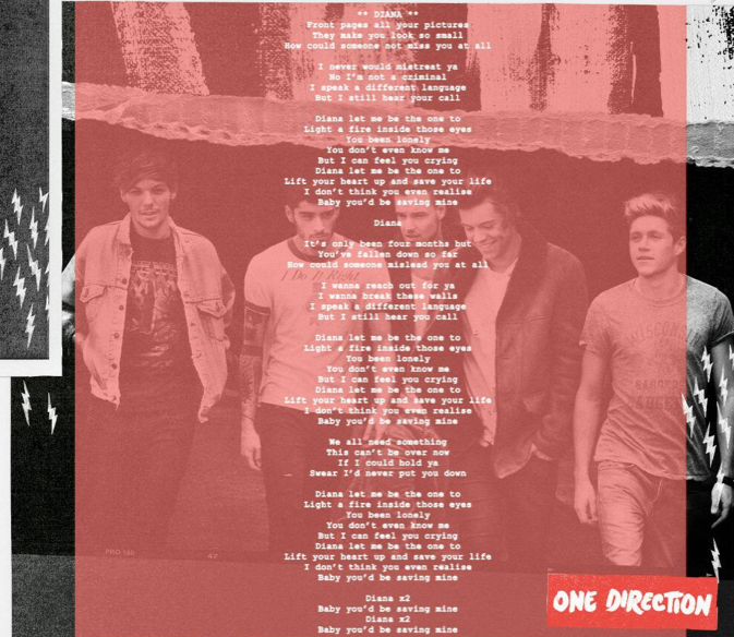 One Direction Diana lyrics